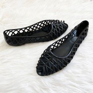 American Apparel Black Jelly Ballet Flats